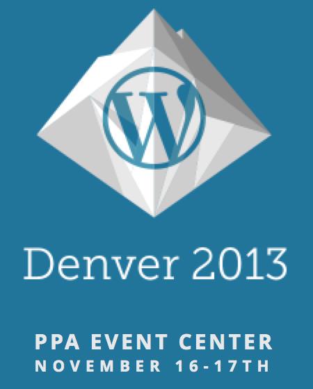 WordCamp Denver 2013.