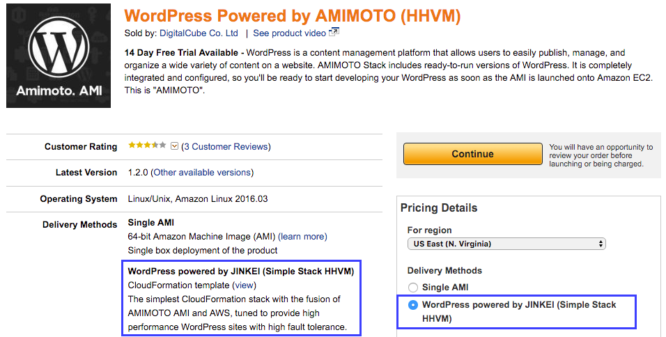 AMIMOTO Adds New Easy-to-deploy Cloudformation Template