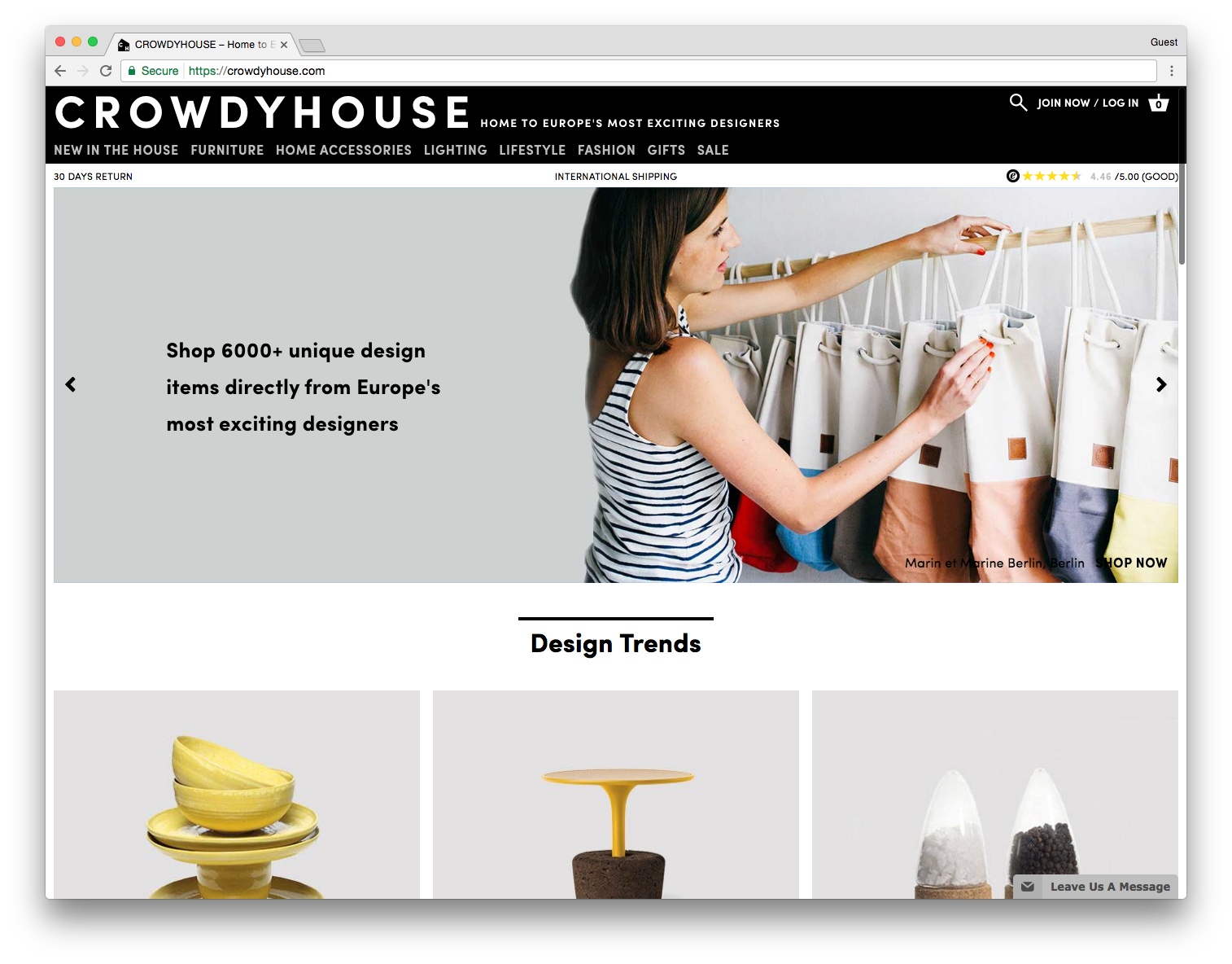 screenshot of CROWDYHOUSE